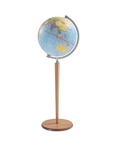 "Zoffoli 16"" Vasco da Gama Floor Globe (Natural Stand)"
