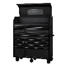 Husky Industrial 52 in. W x 21.7 in. D 15-Drawer Tool Chest and Cabinet Combo in Textured Black-H52CH6TR9HD - The Home Depot