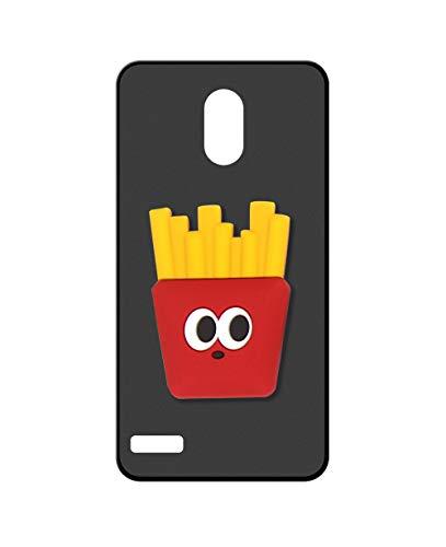 Sunrive Kompatibel mit OUKITEL C8 Hülle Silikon, Ständer Fingerhalter Fingerhalterung Handyhülle matt Schutzhülle Etui Hülle (Pommes Frites) MEHRWEG