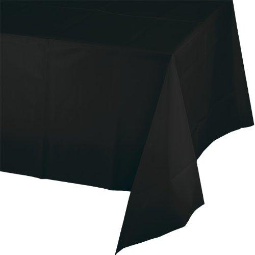 Creative Convertting tafelkleed, kunststof, 137 x 274 cm, zwart/zwart