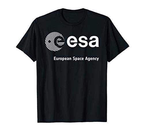 ESA Shirt, European Space Agency Schrift Fingerprint Logo T-Shirt