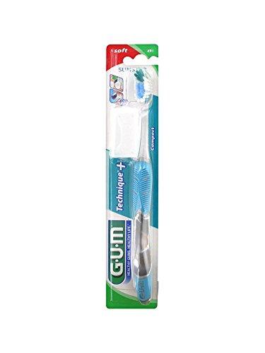 GUM 491 Technique+ Zahnbürste, Blau