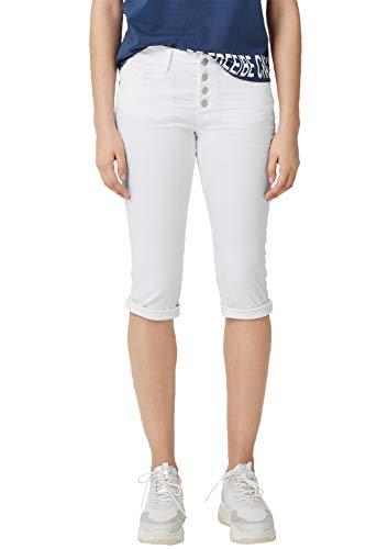 Q/S designed by - s.Oliver Damen 46.906.76.2130 Shorts, Weiß (White 0100), 40