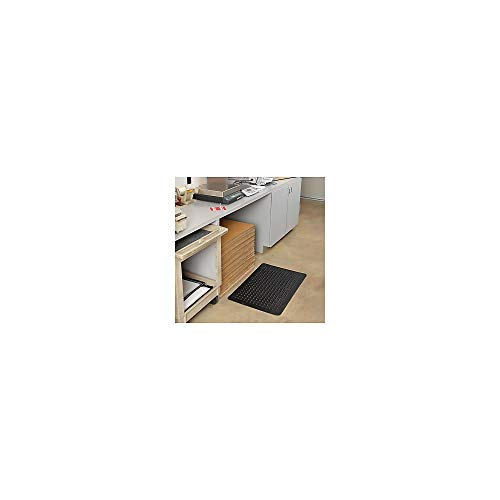 Genuine Joe Anti Fatigue Mat with Beveled Edge, 3 by 5-Feet, Black