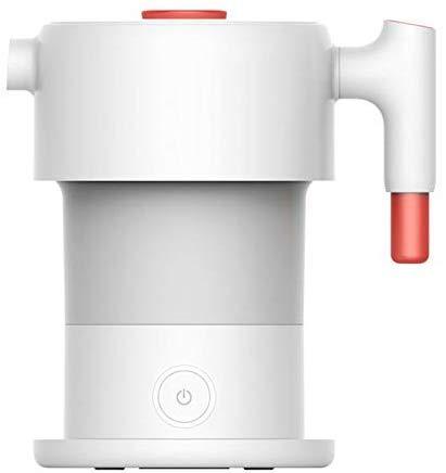 Mnjin Tragbarer elektrischer Wasserkocher Glas-Wasserkocher 0.6L Faltbarer elektrischer Wasserkocher Tragbarer elektrischer Handwasserkolben-Topf Auto-Abschalt-Schutz-Wasserkocher