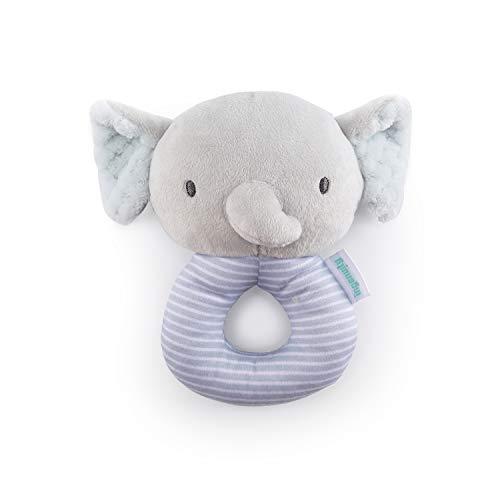 Ingenuity Premium Soft Plush Ring Rattle  Van The Elephant Ages Newborn