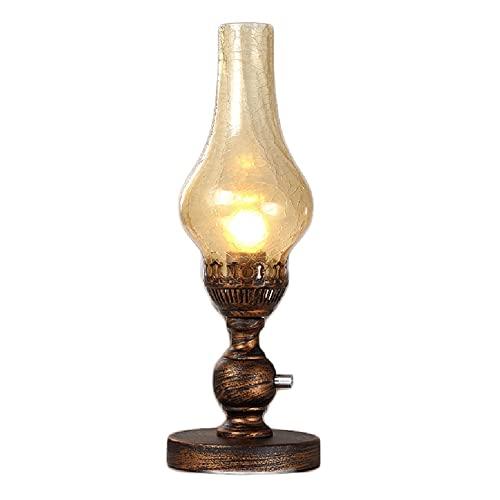 Linterna de aceite de queroseno Lámpara de noche retra estilo chino, lámpara de mesa de keroseno de moda de ancianos pastoral de la boda de la celebración de la boda de los accesorios de la lámpara de