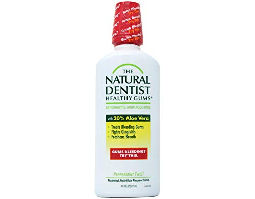 Price comparison product image The Natural Dentist Healthy Gums Antigingivitis Rinse,  Peppermint Twist,  16.9 Ounce (Pack of 3)
