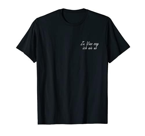 Nunca diré que no conocer el vino, degustación de vino en casa. Camiseta