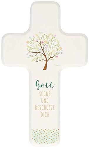 Gott segne und beschütze dich: Kinderholzkreuz