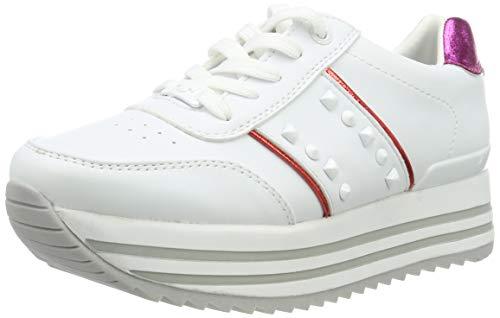 Tom Tailor 6991401, Sneaker Donna, Multicolore (White Red 00105), 41 EU