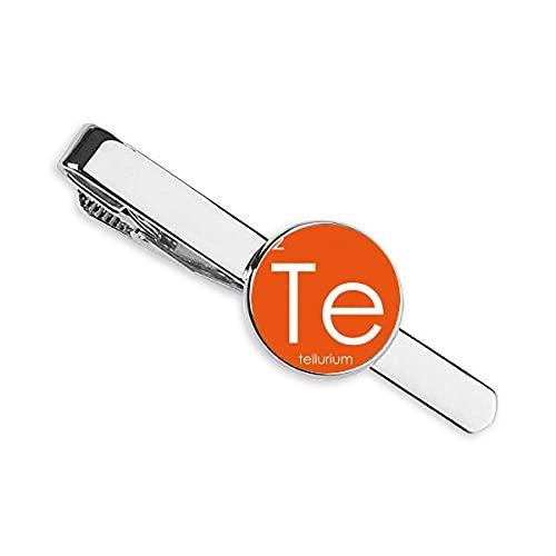 Química Elementos Período Mesa Semimetal Tellurium Te Corbata Clip Bar Regalo Hombre de Negocios