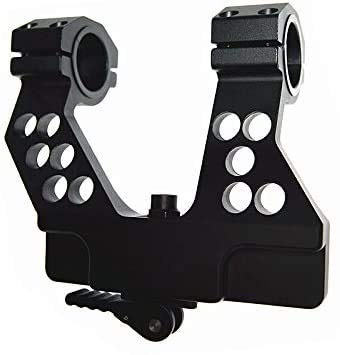 Tactical Side Rail Scope Mount Quick Detach & Integral 1 Inch 30mm Ring for AK