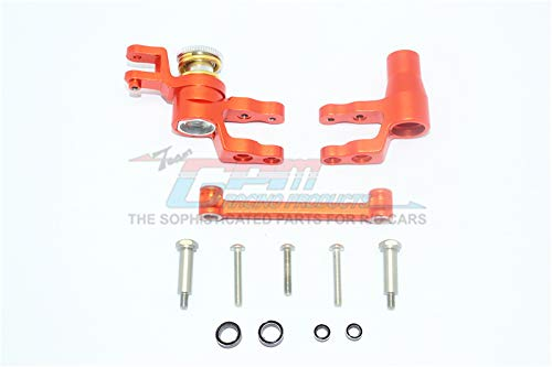 GPM for Traxxas 1/10 Maxx 4WD Monster Truck Upgrade Parts Aluminum Steering Assembly - 1 Set Orange