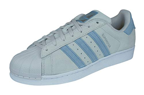 adidas Men's Superstar Low-Top Sneakers, Grey (Pearl Grey/Tactile Blue/Tactile Blue), 6 UK