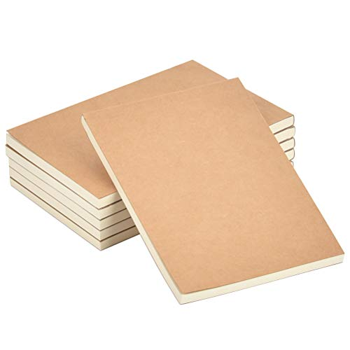 FOROREH 6Pcs Skizzenblock A6 Notizbuch Notizblock, A6 Skizzenbücher Schreibblock, Holzfreies Papier Skizze Leeres Buch 80GSM Patrone Papier, 60 Blätter / 120 Seiten für jedes Leere Notebook