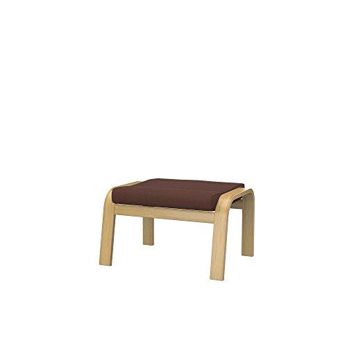 Soferia Funda de Repuesto para IKEA POÄNG reposapiés, Tela Eco Leather Bronze, Negro