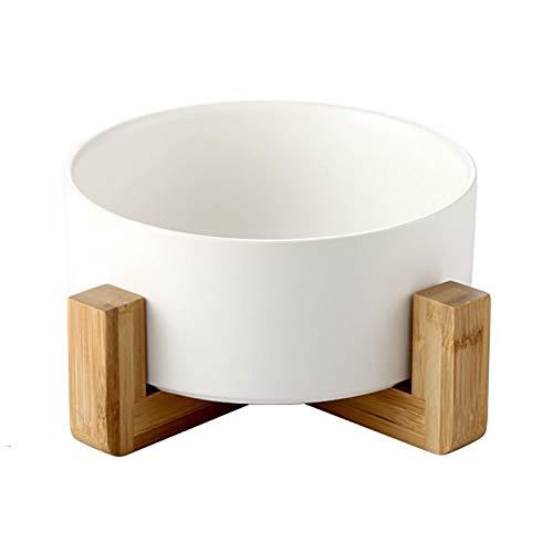 IMDOU Pet Cat Bowl Dog Bowls Cerámica Antideslizante Cuenco de Agua para Perros pequeños Gatos Hacer Gatitos más como (Color : White, Size : 16 * 9cm)