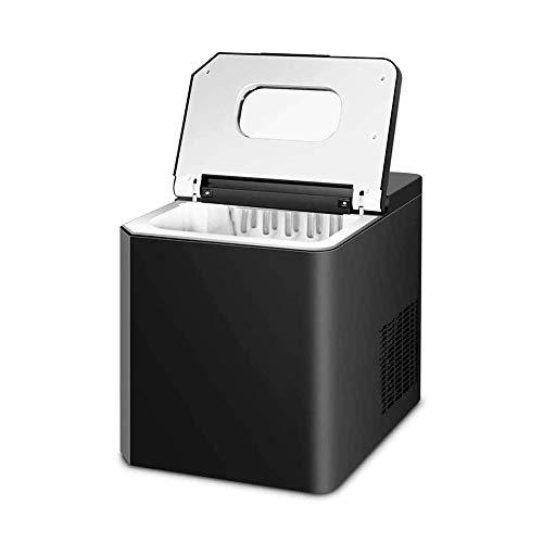 SHKUU Máquina para Hacer Hielo en encimera, 11 kg, Color Negro para Cocina casera, máquina eléctrica para fabricar Cubitos Hielo, tamaño Pepita, máquina automática portátil para Hacer Hielo,