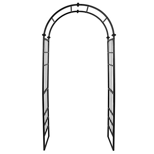 """Ejoyous Garden Arch 38.6"""" Wide x 83.5'' High Decorative Wedding Arch Arbor Arbour Wrought Iron Archway Plant Stand for Rose Vines Plant Climbing Outdoor Garden Patio Lawn Backyard Decoration"""