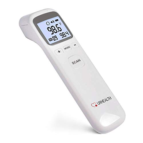 URHEALTH Multi-Button Infrared Thermometer | Digital Thermometer for Kids and Adults, Child and Baby Thermometer | No Touch Medical Forehead Thermometer | Instant Results Touchless Thermometer