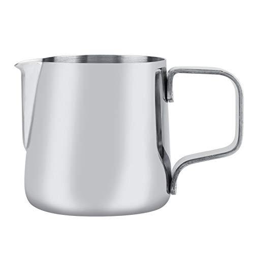 Mjölkskummande koppar, rostfritt stål espresso ångande kanna mjölkskummare för kafé te butik barer för att göra latte konst silver (100 ml)