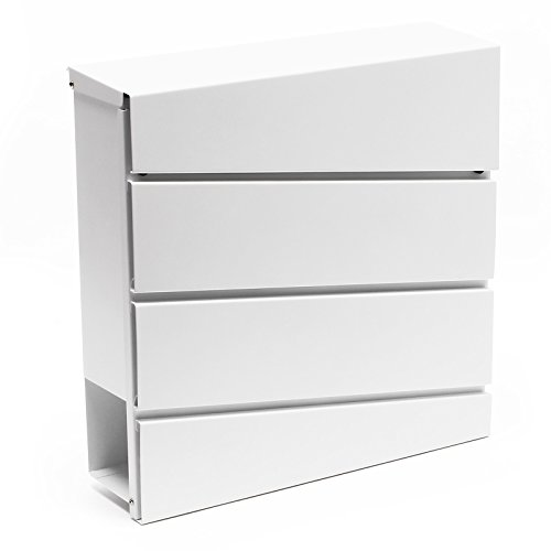 Ontwerp brievenbus V16 wit brievenbus postbus pilaar brief post doos