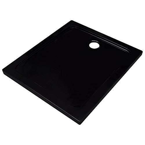 pedkit Plato de Ducha - Textura Pizarra y Antideslizante - Acabado Brillo Plato de Ducha ABS Negro 80x90 cm