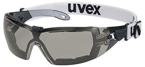 Uvex Pheos Guard Gafas Protectoras - Seguridad Trabajo - Lentes Oscuros Anti-rayaduras y Anti-vaho
