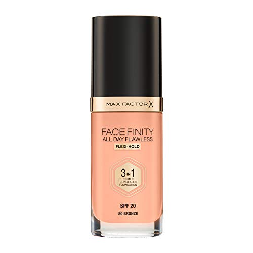 Base de Maquillaje Max Factor Face Finity – All Day Flawless 3 en 1