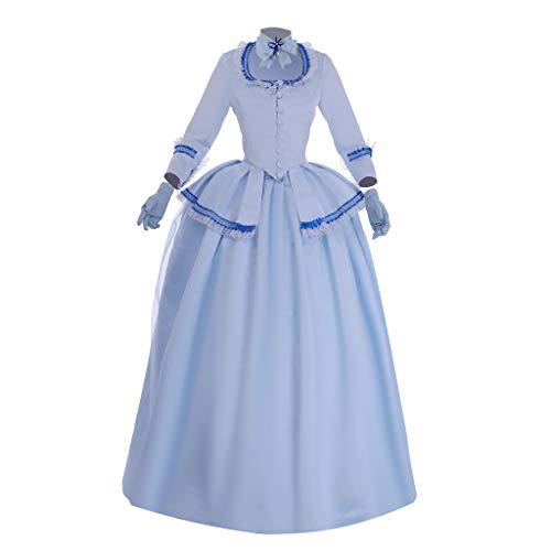 Fortunehouse Vestido de mujer Marie Antonieta medieval gótico victoriano vestido holandés vestido rococó Halloween Cosplay disfraces