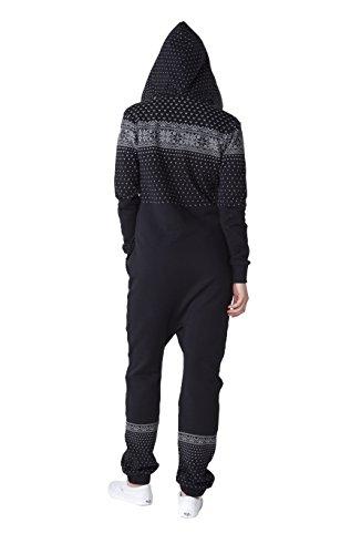 OnePiece Damen Jumpsuit Crystal, Schwarz (Black) - 2