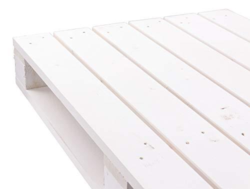 Holzpaletten/Palette Shabby Chic aus Holz - Einwegpalette Tauschpalette Upcycling Palettentisch (1 Stück_Weiß)