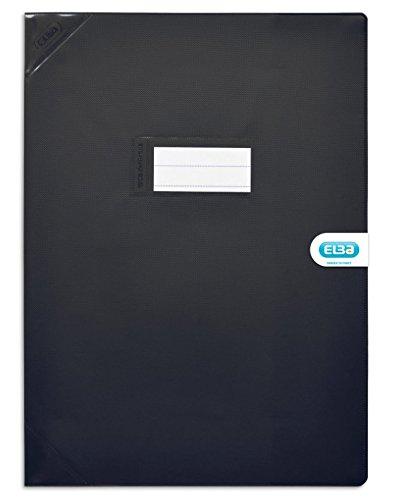 Elba 400051141 Protège cahiers Strong Line, maáe : 240 x 320 mm, noir