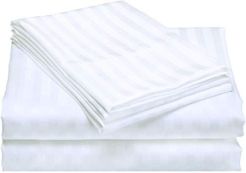 Rajlinen Spannbettlaken-Set, 4 Stück, 100 % ägyptische Baumwolle, extra lang, 30,5-45,7 cm tief, 300 Fadenzahl 34