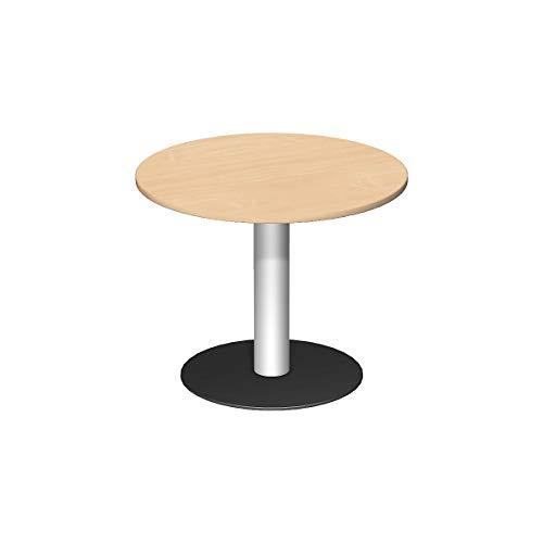 Geramöbel Konferenztisch | Rund | Tellerfuß | BxH 900 x 720 mm | Buche