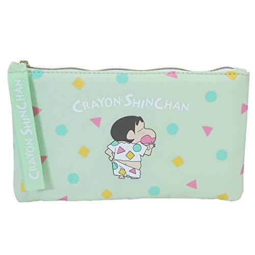 クレヨンしんちゃん[ペンケース]フラット ペンポーチ/グリーンパジャマ