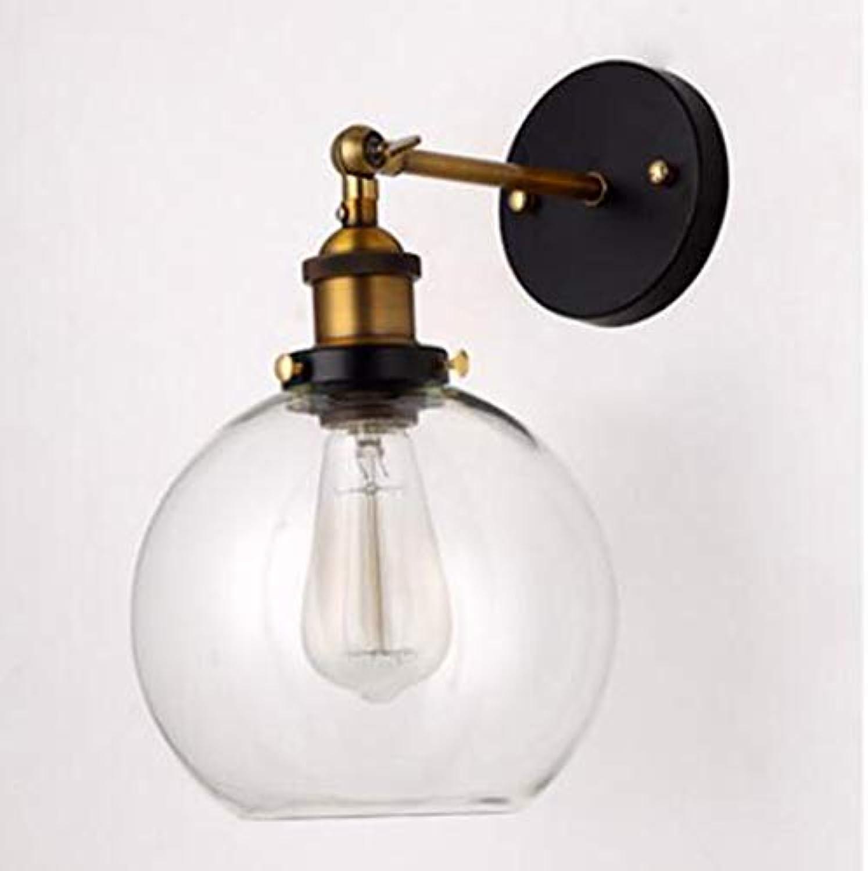LL LED-Wandlampe Modernes Glas Einfaches Spherical Eisen für den Schlafzimmerkorridor Wohnzimmer-Zimmer, Nachttitseite,B,20x25cm