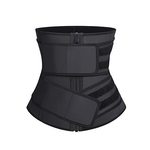 FeelinGirl Latex Sauna Suit - Sauna Tank Top Vest with Adjustable Shaper Trainer Belt 6X-Large