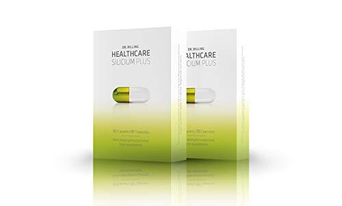Dr. Rilling Silicium Plus – Silizium hochdosiert mit Calcium & Magnesium I Made in Germany I Für die Unterstützung von Stoffwechsel, Muskulatur, Nerven & Knochen I 100% vegan I 80 Silizium Kapseln