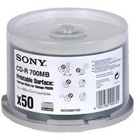 Sony CD-R 48x Speed 50er Spindel Thermo printable 700MB CD-Rohlinge