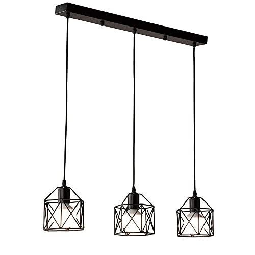 LLLKKK 1 – 3 luces rústicas, lámpara de araña vintage industrial de hierro con forma de pirámide de metal (color: 1 luz)