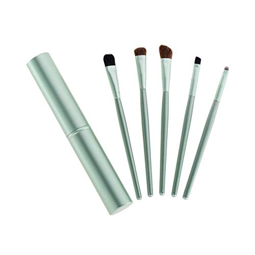 QFDM Makeup Brushes and Tools 5pcs Voyage Mini Portable Maquillage des Yeux Pinceaux Smudge Fard à paupières Eye-Liner Sourcil Pinceau Maquillage- Pinceau Kit Professionnel Easy to Use and Carr