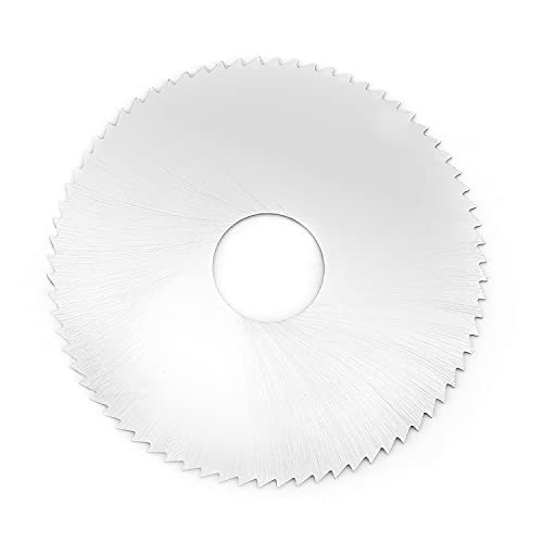 Utoolmart Hoja de sierra circular de 63 mm x 16 mm x 0,5 mm de acero de alta velocidad, 72 dientes, disco de rueda para cortar ranuras, acero, cobre, metal, plástico, madera