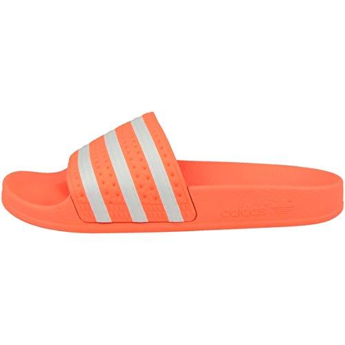 adidas Damen Adilette W Gymnastikschuh, Flash Orange/ Ftwr Weiß/ Orange Flash Seeds, 44 1/2 EU