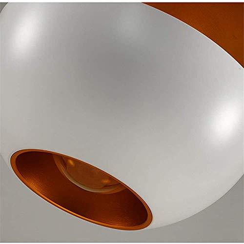Qsweet Lámpara Colgante de salón, lámpara Colgante de Aluminio Moderna lámpara de Noche Industrial lámpara Colgante Bombilla E27,35cm-White