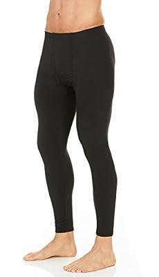 Thermajohn Mens Thermal Pants Bottoms (Black, Small)