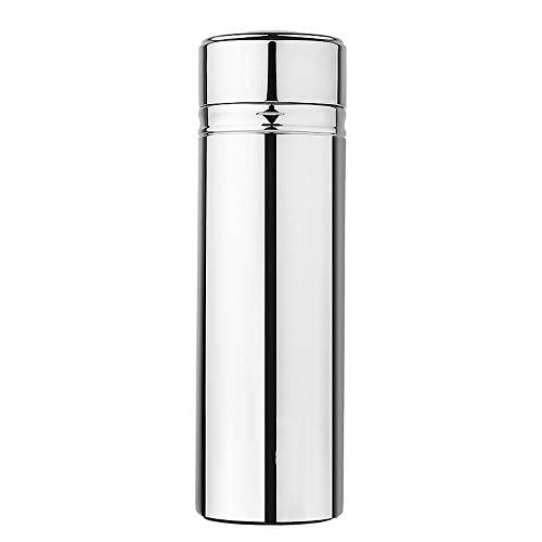 Mokfles Stainless Steel Thermos Fles, Auto van Geïsoleerde Coffee Cup, hete koffie of koude thee + Drank beker deksel-Ideaal for op kantoor, camping en outdoor activiteiten-geschikt for kleine Kinderw