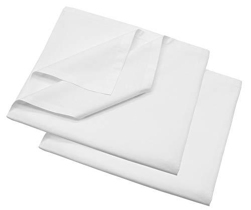 ZOLLNER 2er Set Bettlaken Baumwolle, 150x260 cm (Weitere verfügbar), ca.140 g/qm