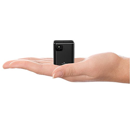 """AMOXUN P6 Mobile Mini Pico Projector, DLP Technology, Support 1080P HD 120"""" Display, WiFi Airplay Miracast Wireless Connectivity, Touch Panel Control"""
